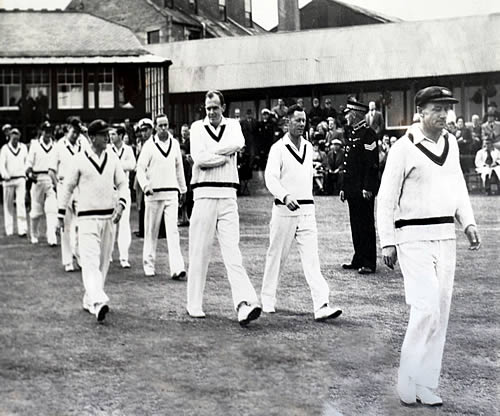 Don Bradman led Australia out at Mannofield in 1948